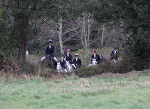 Approaching the ditch the Mock hunt at Bel-Air Equestrian Centre