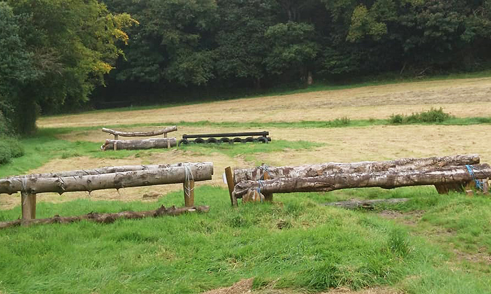 Cross country fences in Sweet Hill at Bel-Air Equestrian Centre Co. Wicklow