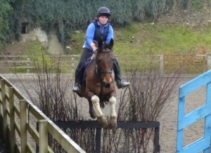 Cross-country lesson in the all-weather arena at Bel-Air Equestrian Centre