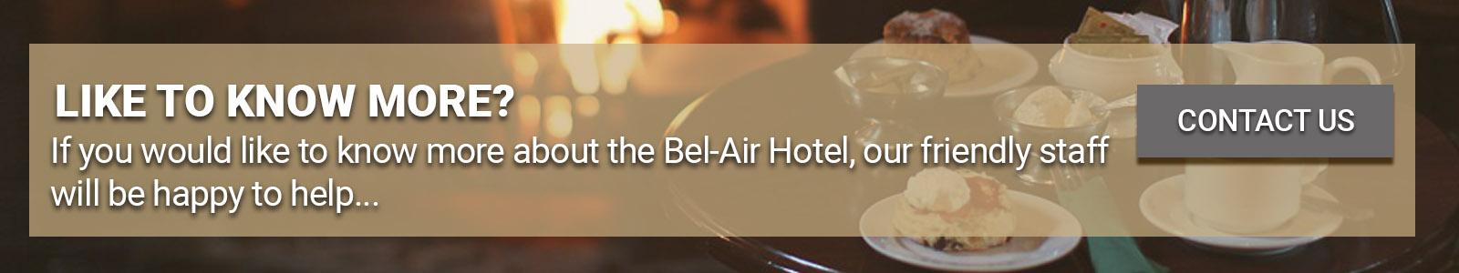 Eating at Bel-Air Hotel