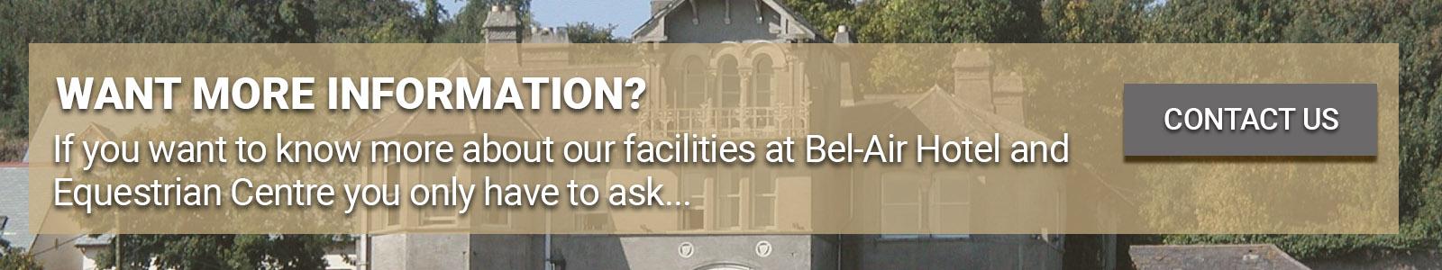 Facilities at Bel-Air Equestrian Centre