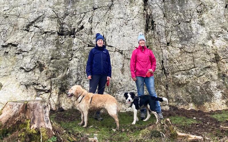 Maggie and Noni enjoying a Wicklow walk