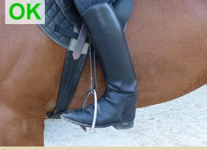 OK for riding - traditional riding boots