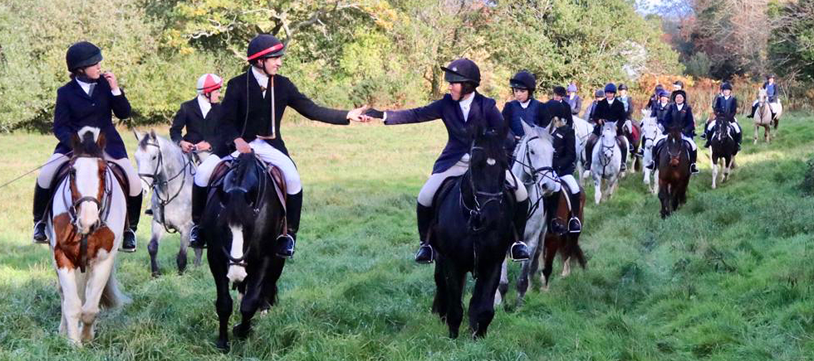 Sharing The Chocolate At A Mock Hunt Bel-Air Equestrian Centre Ireland