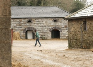 The mounting blocks and the mobile phone are modern additions to this traditional yard - Bel-Air Equestrian Centre, Ireland