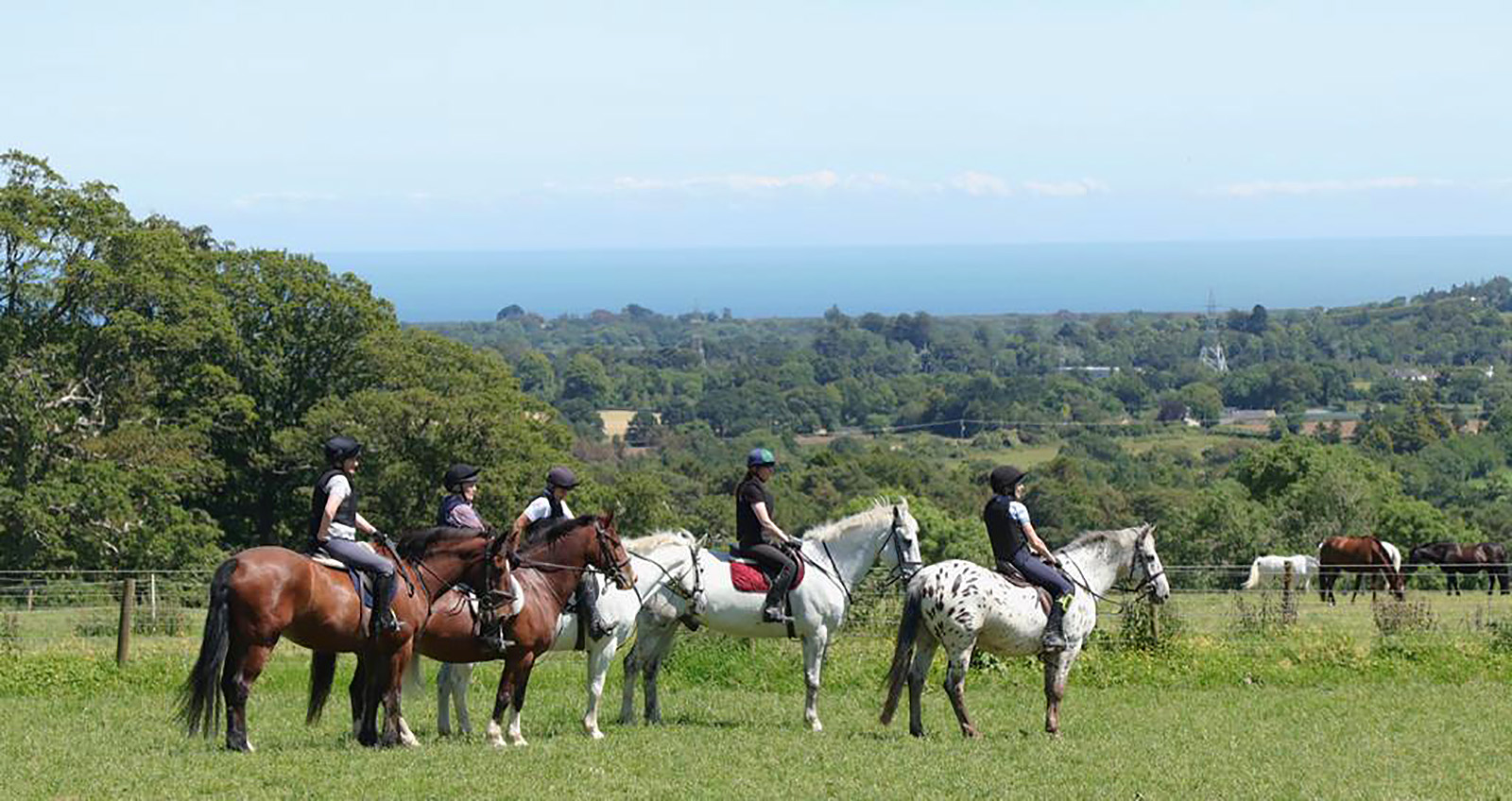 Waiting their turn on the XC jumping ride Bel-Air Equestrian Centre Ireland